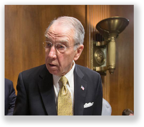 Sen. Charles Grassley (R-Iowa), the man with his hand on the Judiciary Committee throttle.