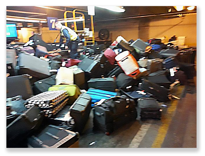 The ream crime is probably how airlines handle baggage to begin with...
